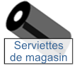 serviettes de magasin